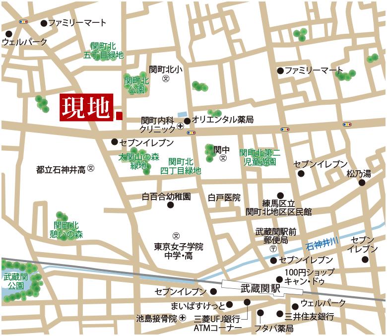 スマイルタウン練馬13期関町北アクセスマップ